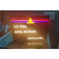 Acrylic LED Indian Armed Forces Name Plate - 1