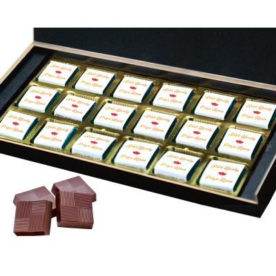 Chocolates Anniversary Gift with Photo Name and Message  18pcs  1 Anniversary 18B