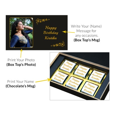 Customized Chocolate Birthday Gifts  6pcs  1 Birthday Gift 6C