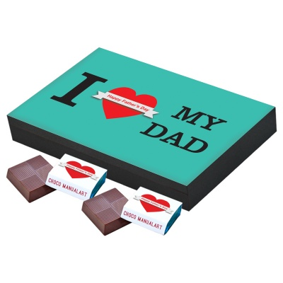 Thoughtful Fathers Day Gift  12 pcs  Best Message Printed Fathers Day Chocolate Gift