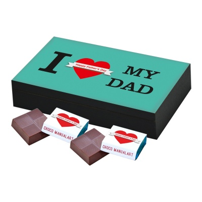 Thoughtful Fathers Day Gift  6 pcs  Best Message Printed Fathers Day Chocolate Gift