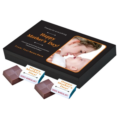 Personalized Mothers Day with Photograph Name and Message 12 Pcs  Unique Printed Chocolate Box Gift for Mothers Day