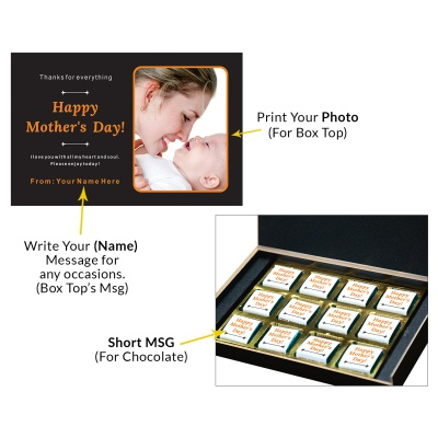 Personalized Mothers Day with Photograph Name and Message 12 Pcs  1 Mothes 12C