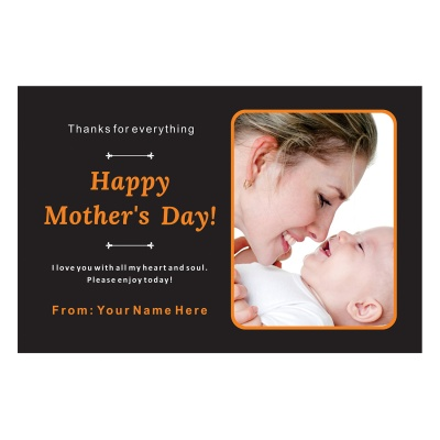 Personalized Mothers Day with Photograph Name and Message 12 Pcs  1 Mothes 12D