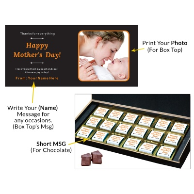 Personalized Mothers Day with Photograph Name and Message 18 Pcs  1 Mothes 18C