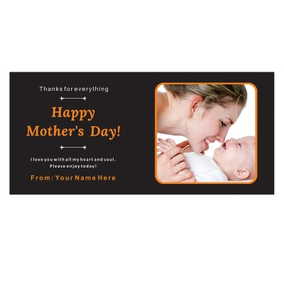 Personalized Mothers Day with Photograph Name and Message 18 Pcs  1 Mothes 18D