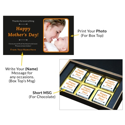 Personalized Mothers Day with Photograph Name and Message  6 Pcs  1 Mothes 6C 1