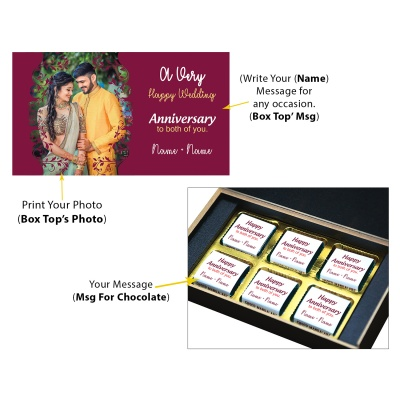 Personalised Marriage Anniversary Gift with Photo Print  6pcs  10 Anniversary 6C