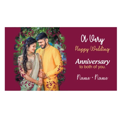 Personalised Marriage Anniversary Gift with Photo Print  6pcs  10 Anniversary 6D