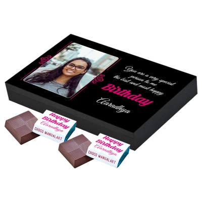 Personalized Chocolate with Photo Name  Message 12 Pcs  10 Birthday Gift 12A 1