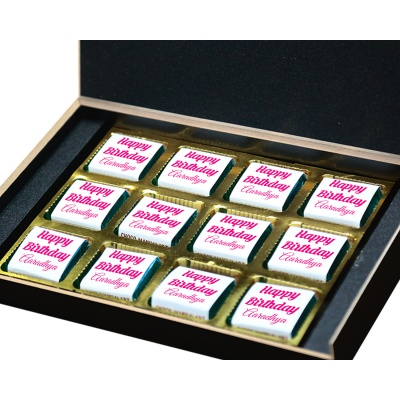 Personalized Chocolate with Photo Name  Message 12 Pcs  10 Birthday Gift 12B