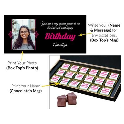 Customized chocolate Birthday Gift with Photo 18 Pcs  10 Birthday Gift 18C