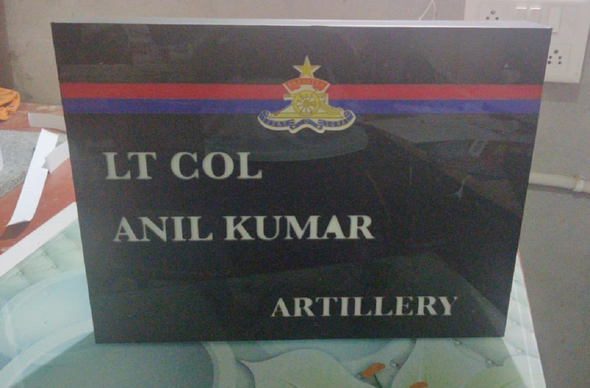 Acrylic LED Indian Armed Forces Name Plate  Acrylic LED Indian Armed Forces Name Plate  2