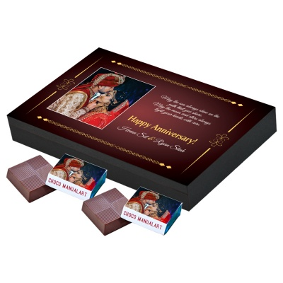 Customized Printed Chocolate for Anniversary  12 pcs  2 Anniversary 12A
