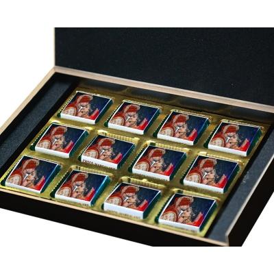 Customized Printed Chocolate for Anniversary  12 pcs  2 Anniversary 12B