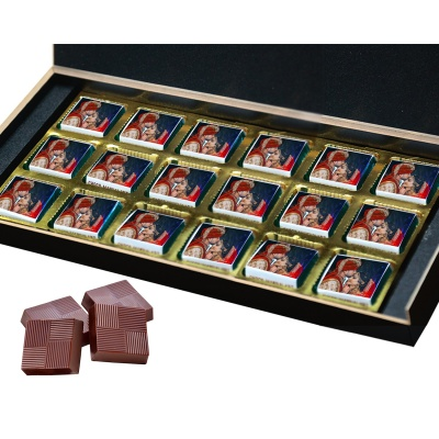 Chocolate Personalised Gift with Photo Name and Message for Anniversary  18pcs  2 Anniversary 18B