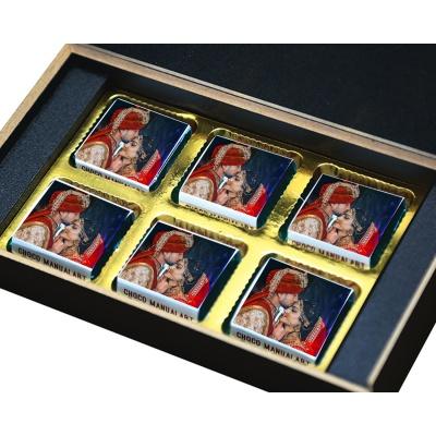 Printed Chocolate for Anniversary  6pcs  2 Anniversary 6B