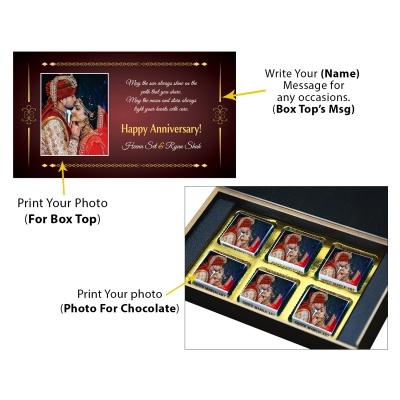 Printed Chocolate for Anniversary  6pcs  2 Anniversary 6C