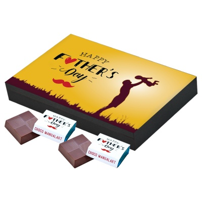 Gift for Father Chocolate Box  12pcs  Best Chocolate Box Fathers Day Gift