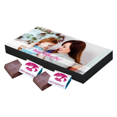 Personalized Mothers Day with Photograph Name and Message chocolate box  18 Pcs  Best Printed Personalized Mothers Day Chocolates