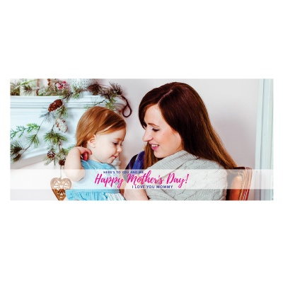 Personalized Mothers Day with Photograph Name and Message chocolate box  18 Pcs  2 Mothes 18D