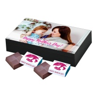 Personalized Mothers Day with Photograph Name and Message 12 Pcs  Beautiful Printed Mothers Day Chocolate Gift Box