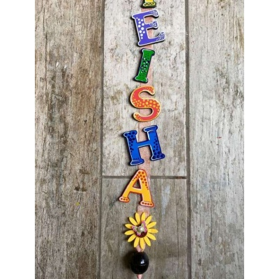 Bird on tree Kids Name Plate  door name plates for cute kids room hand made hitchki dot in 0003