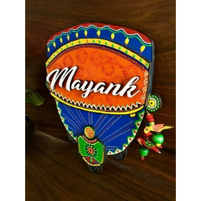 Truck Theme Wooden Name Plate  door name plates for cute kids room hand made hitchki dot in 0007