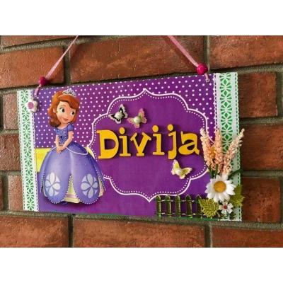Sophia Kids Name Plate  door name plates for cute kids room hand made hitchki dot in 0016