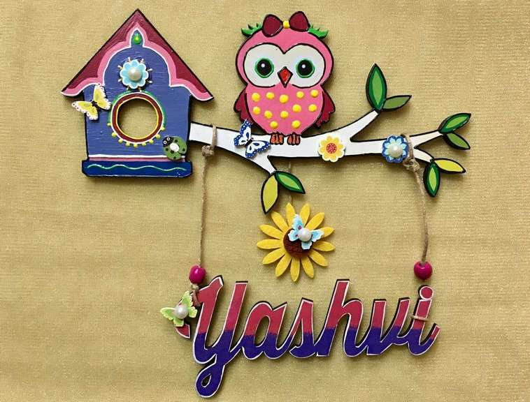 door name plates for cute kids room hand made hitchki dot in 0020