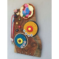 Spring Fairy Wooden Key Holder  key holders hangers hand made hitchki dot in personalized gifts 0006