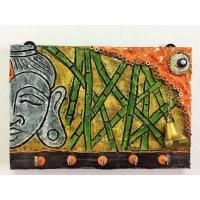 Bamboo Buddha Key Holder  key holders hangers hand made hitchki dot in personalized gifts 0007