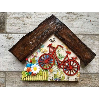 My Little Garden Wooden Key Holder  key holders hangers hand made hitchki dot in personalized gifts 0011
