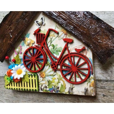 My Little Garden Wooden Key Holder  key holders hangers hand made hitchki dot in personalized gifts 0012