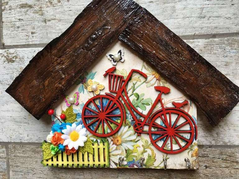 My Little Garden Wooden Key Holder  key holders hangers hand made hitchki dot in personalized gifts 0013