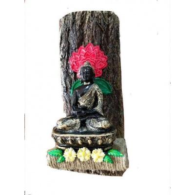 Buddha Wood log Key Holder  key holders hangers hand made hitchki dot in personalized gifts 0017