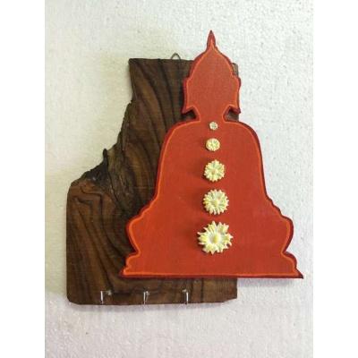 Seven Chakra Buddha Key Holder  key holders hangers hand made hitchki dot in personalized gifts 0018