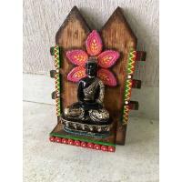 Seven Chakra Buddha Key Holder  key holders hangers hand made hitchki dot in personalized gifts 0020