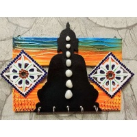 Morning Hues Buddha Key Holder  key holders hangers hand made hitchki dot in personalized gifts 0024
