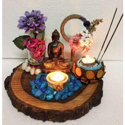 Buddha Wood Log Tea Light  Tea light