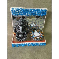 Ganesha Mirror mosaic Tea light  lord ganesha hand made festive tea lights for diwali hitchki dot in 0002