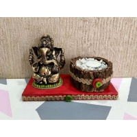 lord ganesha hand made festive tea lights for diwali hitchki dot in 0009