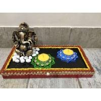 lord ganesha hand made festive tea lights for diwali hitchki dot in 0015