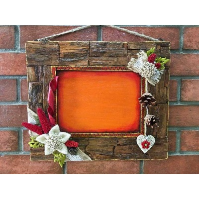 Wood bark wall mount Photo Frame  photo frames hand made hitchki dot in personalized gifts 0006