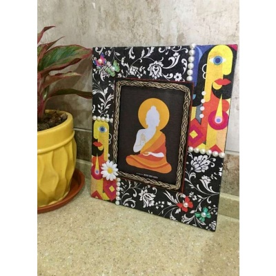 Decoupage Faces Wooden Photo frame  photo frames hand made hitchki dot in personalized gifts 0013