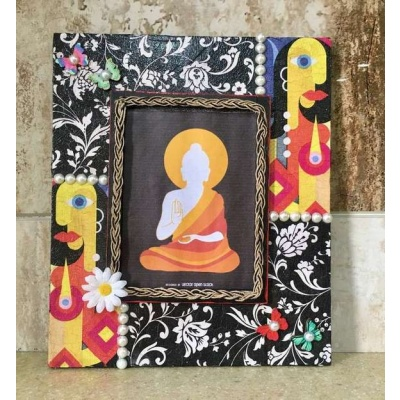 Decoupage Faces Wooden Photo frame  photo frames hand made hitchki dot in personalized gifts 0017