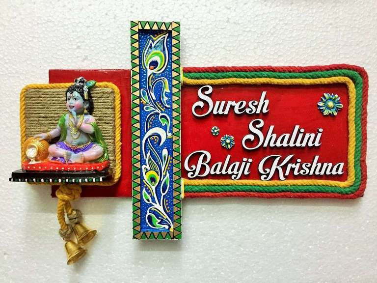 Buy Customized Wooden Nameplates Online in India