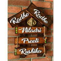 Wooden Hut Family Name Plate  wooden name plates house office door wall flat bungalow plaques hand made hitchki dot in personalized gifts 0012