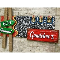 wooden name plates house office door wall flat bungalow plaques hand made hitchki dot in personalized gifts 0021
