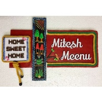 Home Sweet Home Wooden Name Plate  wooden name plates house office door wall flat bungalow plaques hand made hitchki dot in personalized gifts 0022